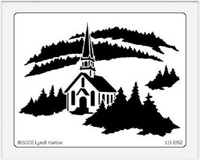 Dreamweaver Stainless Steel Embossing Stencil - Church - LG652 - New In