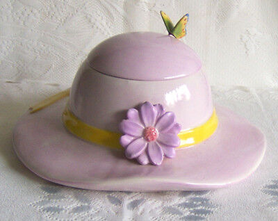Whimsical Pink Hat/Spring-Easter Bonnet Cookie Jar~Collectible Ltd Edition