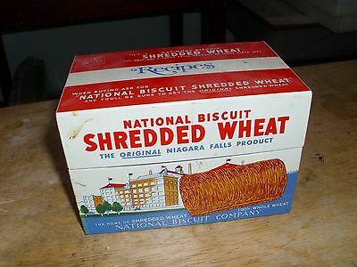 Vintage 1973 NABISCO Metal Shredded Wheat Recipe Box Tin. From my sister's home.