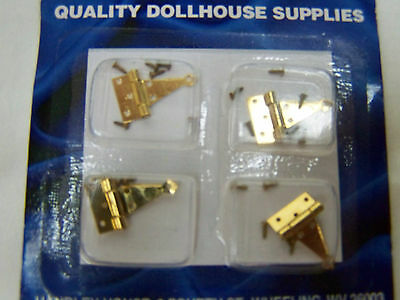 Miniature Brass Dollhouse Hinges 1:12 scale