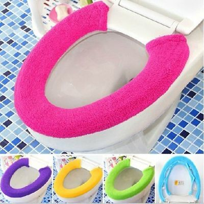 Bathroom Washable Toilet Seat Warmer Soft Protector Toilet Seat Closestool Cover