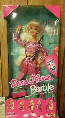 NiB Dance Moves Barbie Doll (Mattel, 1994) Bend & Move, Action Moving Arms
