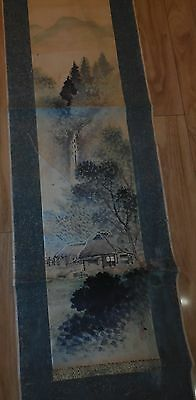 Antique Hanging Scroll Japanese Painting Old Landscape Picture Japan Art 9127189