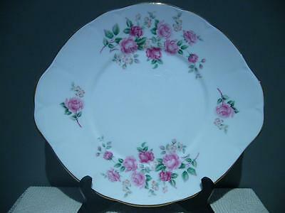 Lovely Duchess England Tab Handled Cake Plate - Pink Roses - Very Good Cond