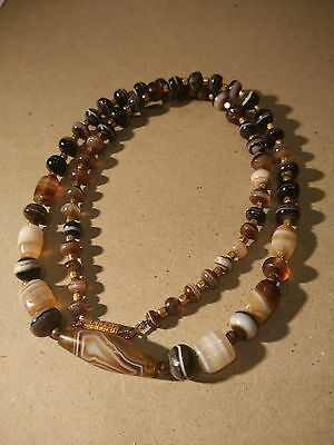 2000yrs+ Ancient Natural Banded agate necklace and Sulemani beads  #82