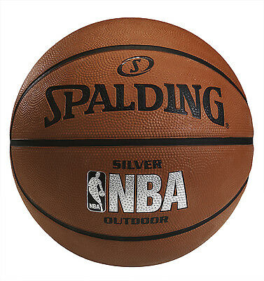 Spalding NBA Silver Outdoor Basketball [Size 7] + Free Delivery Australia Wide