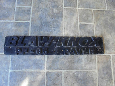 Vintage Sign BLAW-KNOX PAVER ---- heavy