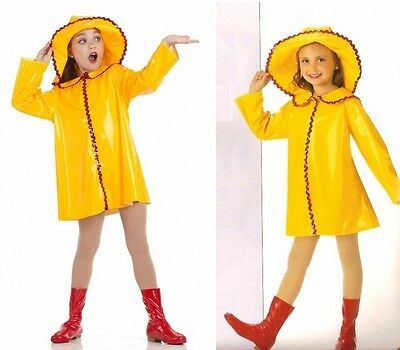 April Showers Dance Costume Raincoat Hat Boot Covers Clearance Child Small