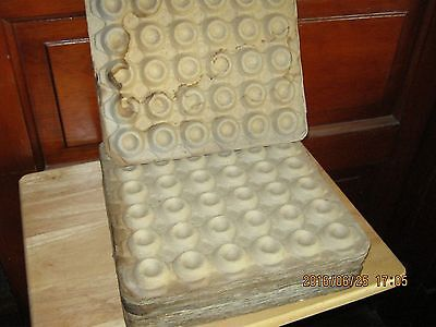 """26 12"""" square vintage cardboard egg trays for egg carton crate box"""
