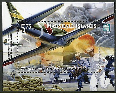 MARSHALL ISLANDS 2016 75th ANNIVERSARY OF THE PEARL HARBOR ATTACK  S/S  MINT NH