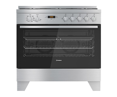Westinghouse 90cm Stainless Steel Dual Fuel Stove - Model: WFE912SA