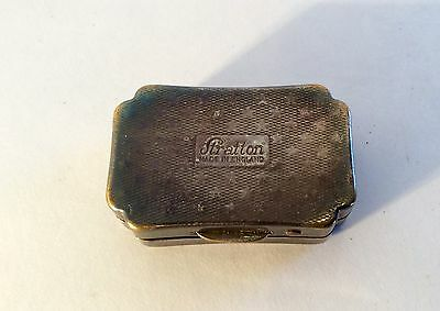 Vintage STRATTON Silver Pill Box Made in ENGLAND