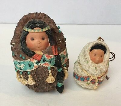 1996 Enesco Friends Of The Feather Family Papoose Ornament