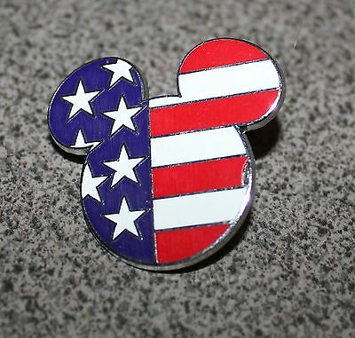 Disney Pin Mickey Mouse Icon American Flag Usa Stars And Stripes