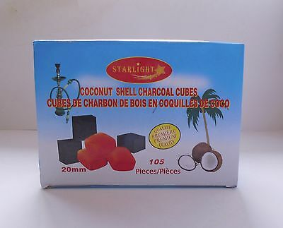 105 Pieces king Size Starlight Coconut Hookah Charcoal