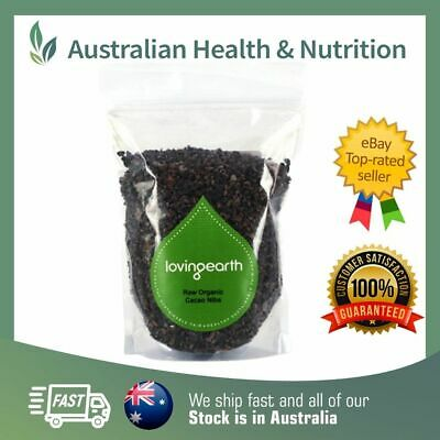 Loving Earth Raw Organic Cacao Nibs - All Sizes + Free Sample