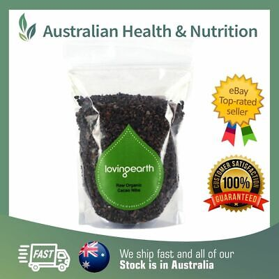 Loving Earth - Raw Organic Cacao Nibs - All Sizes + Free Sample