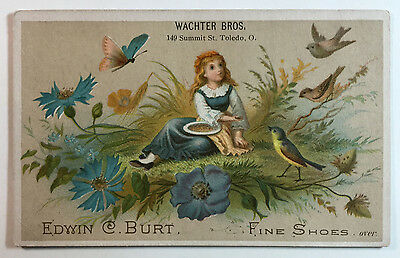 Edwin C. Burt Fine Shoes Victorian Trade Card - For Wachter Bros., Toledo, Ohio