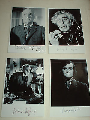 Hammer Horror Male Actors Job Lot 20 Reprint Autograph Photographs Signed
