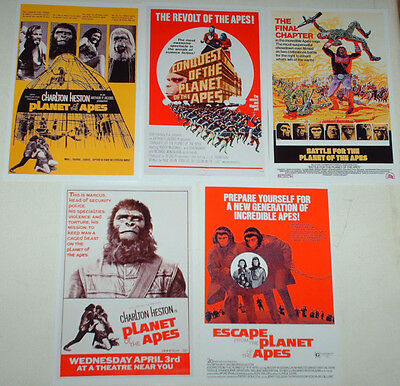 Planet Of The Apes Movie Posters Job Lot Set 10 Colour 6 X 4 Glossy Cards