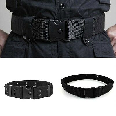 Airsoft Tactical Outdoor Security Police SWAT Nylon Duty Utility Belt Black