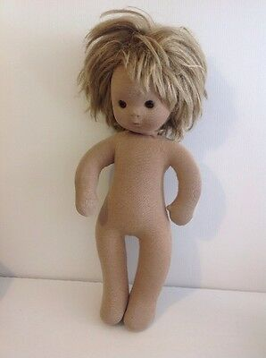 Original Vintage Stupsi Cloth Doll Made In West Germany.