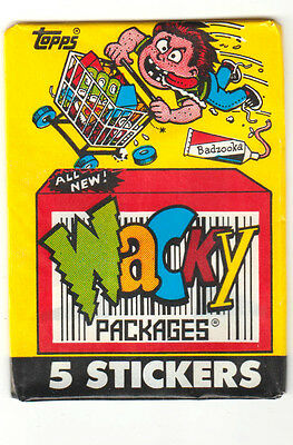 1991 Wacky Packages Vintage Series -WRAPPER- Only. w/out 25 cents logo