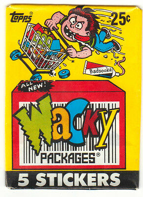 1991 Wacky Packages Vintage Series -WRAPPER- Only. w/25 cents logo
