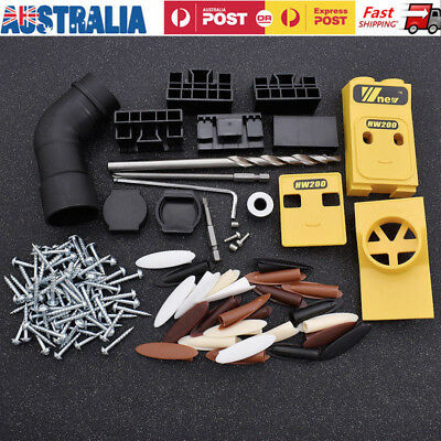 Woodworking Pocket Hole Drill Guide Jig Kit Multi Value Screw Carpenter Tools