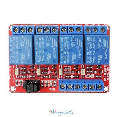 4-Channel 12V Relay Module with Optocoupler High/Low Level Triger for Arduino AU