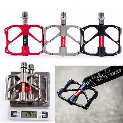 Alloy Bicycle Road Platform Aluminum Pedals MTB Mountain Black Pedal 9/16 in