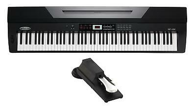 88-Tasten Digital Piano Stage Piano Keyboard Usb Midi Lcd Dsp Aufnahme Set Pedal