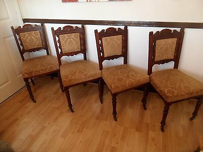 4 x edwardian vintage dining chairs