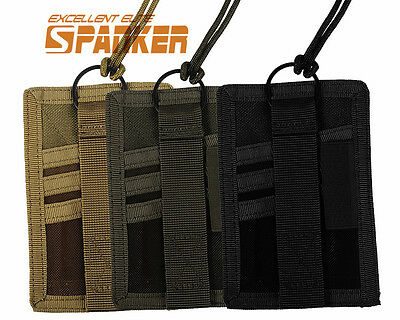 Spanker Tactical ID Cards Pockets Vertical Military Pass Holder + Neck Lanyard