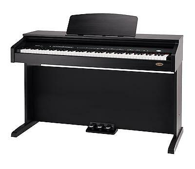 88 Tasten Digital E-Piano Klavier Keyboard 3-Pedale 26-Sounds Usb Rosenholz