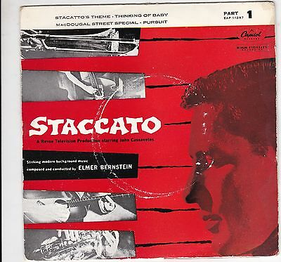 """Johnny Staccato Tv Theme Part 1 / Elmer Bernstein Uk 7"""" Ep Capitol Excellent"""