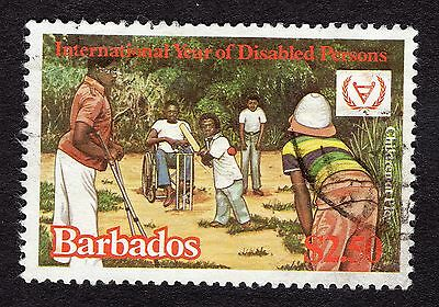 1981 Barbados $2.50 int year for disabled SG673 GOOD USED R31420