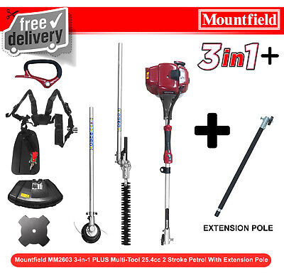 Mountfield MM2603 3-in-1 Multi-Tool 25.4cc 2 Stroke Petrol Hedge Trimmer