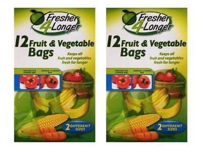24 Seal a Pack Fresh for Longer Fruit and Vegetable Bags - Food Bag