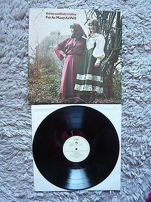 Shirley And Dolly Collins & For As Many As Will 1978 Topic Label UK Vinyl LP