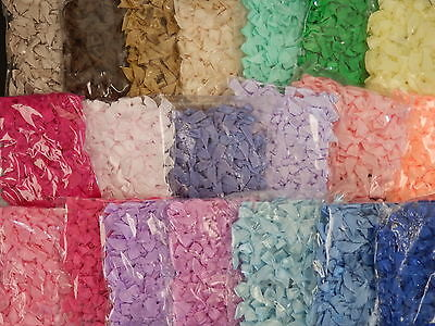 50 x 8mm Ribbon BOWS TRB3 SINGLE colour packs SCRAPBOOKING Cards CRAFT