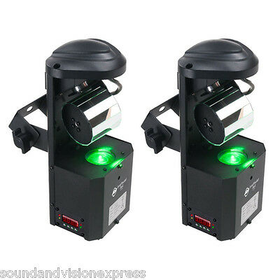 2x American DJ Inno Pocket ROLL LED 9x Colour Gobo Spot Barrel Scanner Light ADJ