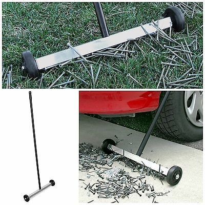 Magnetic Sweeper With Wheels Rolling Floor Broom Cleaner Garage Supplies Tools