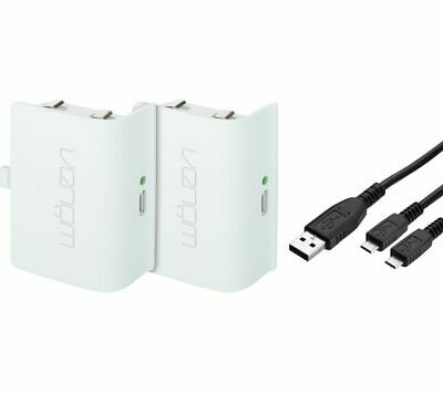VENOM Xbox One Twin Rechargeable Battery Packs - White - Currys
