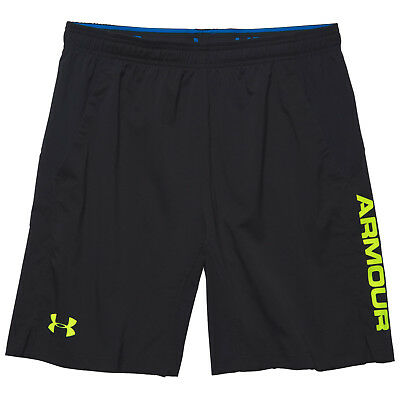 "Under Armour Mens Heatgear HIIt Woven Shorts 8"" Small - New Gym Running Football"