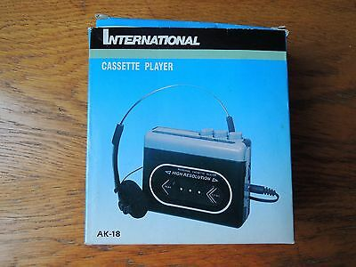 International Stereo Cassette Player AK-18 Walkman With Headphones