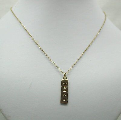 Small 9ct Gold Ingot Pendant And Chain