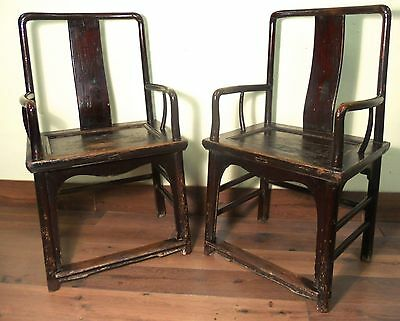 Antique Chinese Arm Chairs (5919) (Pair), Ming Style, Circa 1800-1849