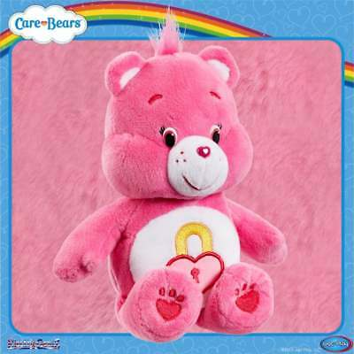 Care Bears Bean Bag 8in Beanie Plush Soft Collectable Toy -  Pink Secret Bear