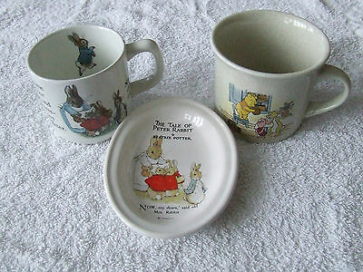 Winnie the Pooh, Peter Rabbit China Christening Baby Gifts Bargain (3 Items)